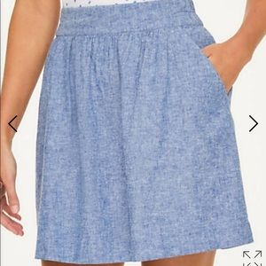 Loft outlet chambray pull on skirt